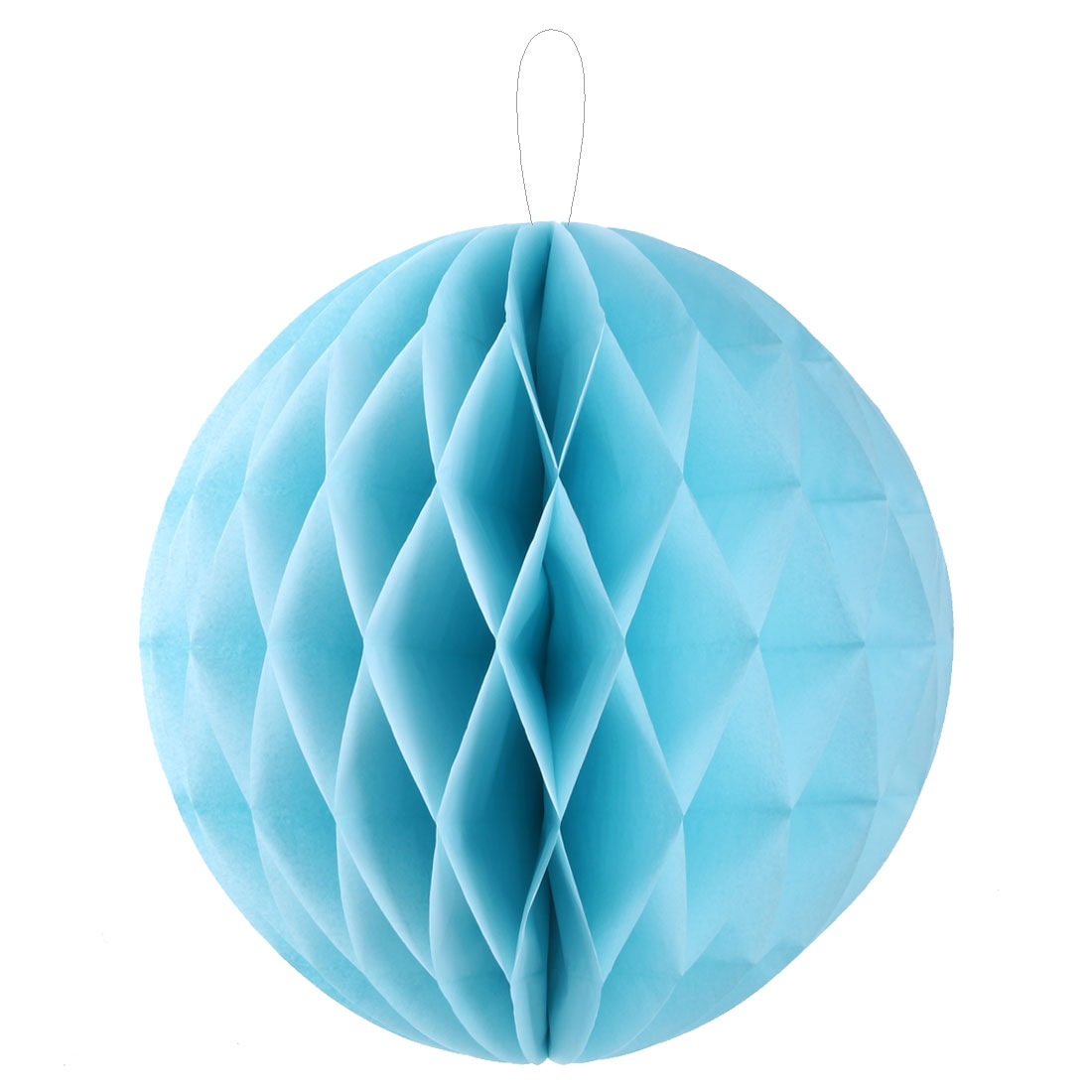 Wedding Paper Chinese Style Window Wall Hanging Decor Honeycomb Ball Pale Blue 16 Inch Dia