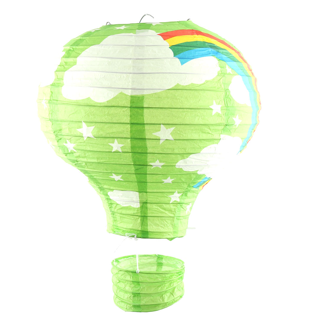 Party Graduation Paper Rainbow Print DIY Lightless Hanging Decoration Hot Air Balloon Lantern Green