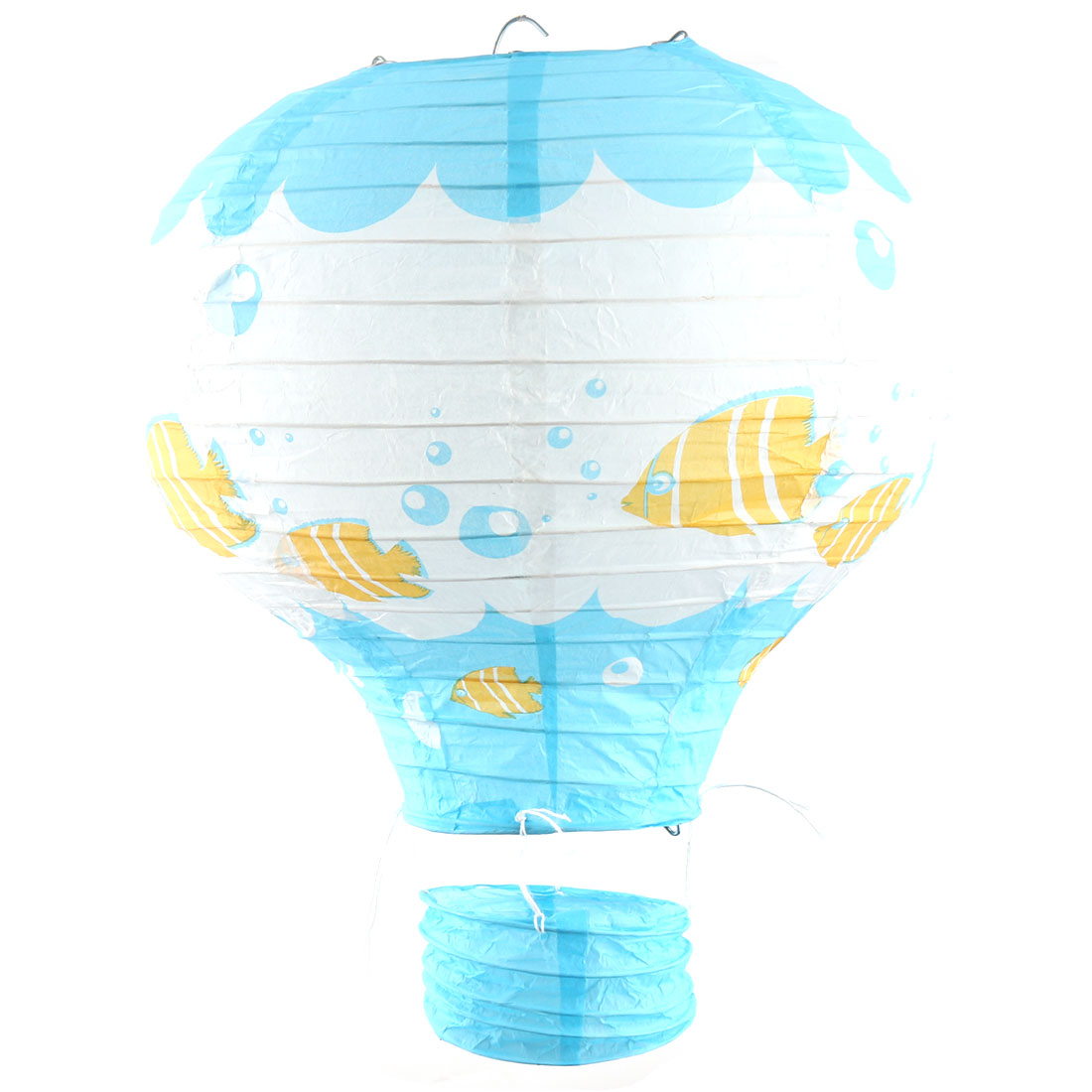 Engagement Feast Paper Fish Pattern DIY Lightless Hanging Decor Hot Air Balloon Lantern Blue 10 Inches Dia