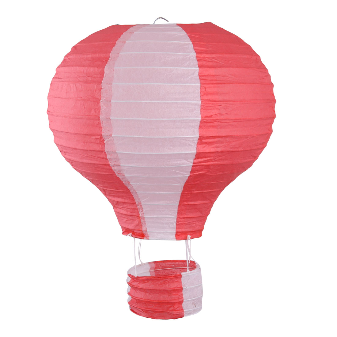 Restaurant Party Paper Lightless Hanging DIY Decor Hot Air Balloon Lantern Red White 10 Inch Dia
