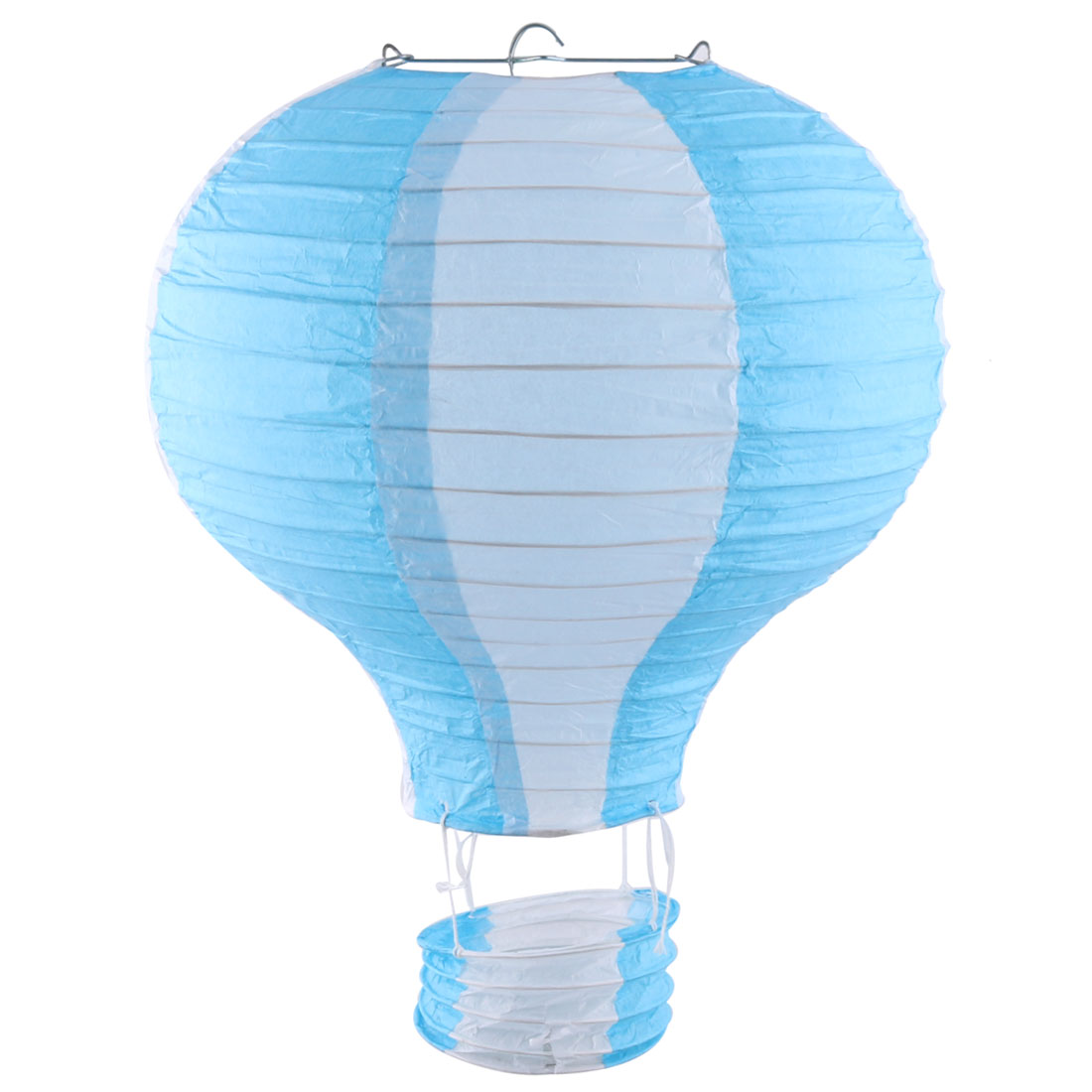 Restaurant Party Paper Lightless Hanging DIY Decor Hot Air Balloon Lantern Blue White 10 Inch Dia