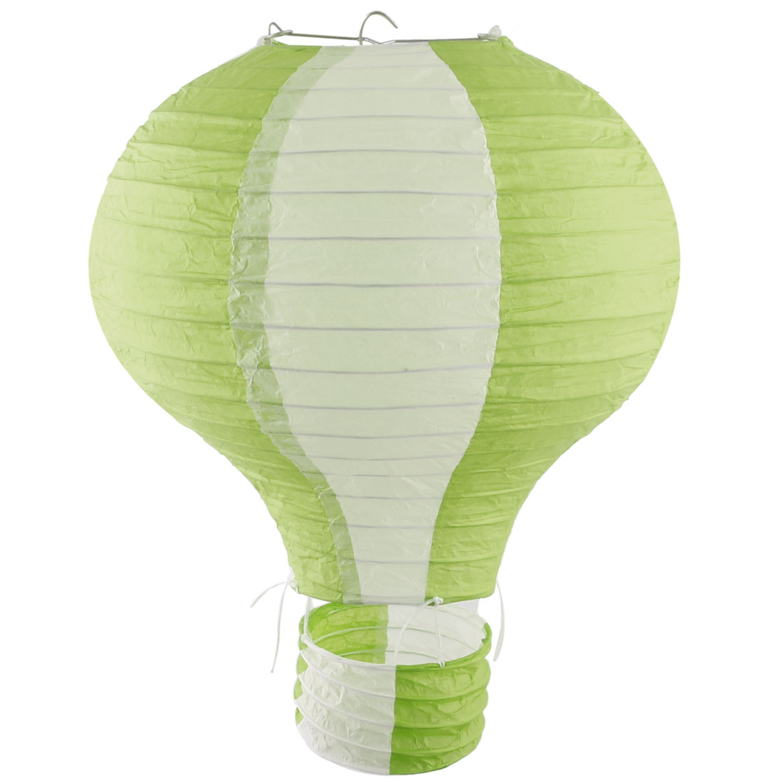 Restaurant Party Paper Lightless Hanging DIY Decor Hot Air Balloon Lantern Light Green White 10 Inch Dia