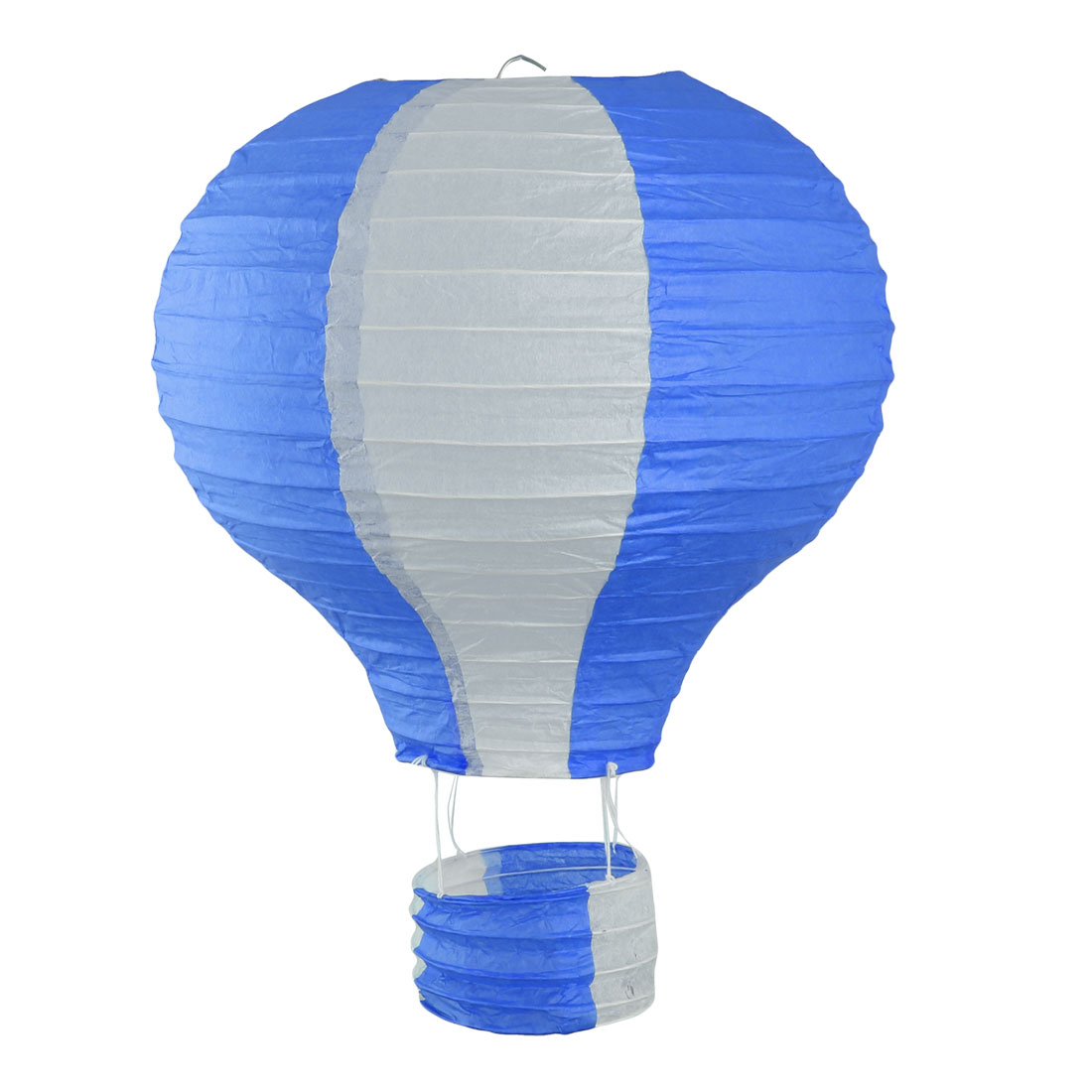 Restaurant Party Paper Lightless Hanging DIY Decor Hot Air Balloon Lantern Dark Blue White 10 Inch Dia