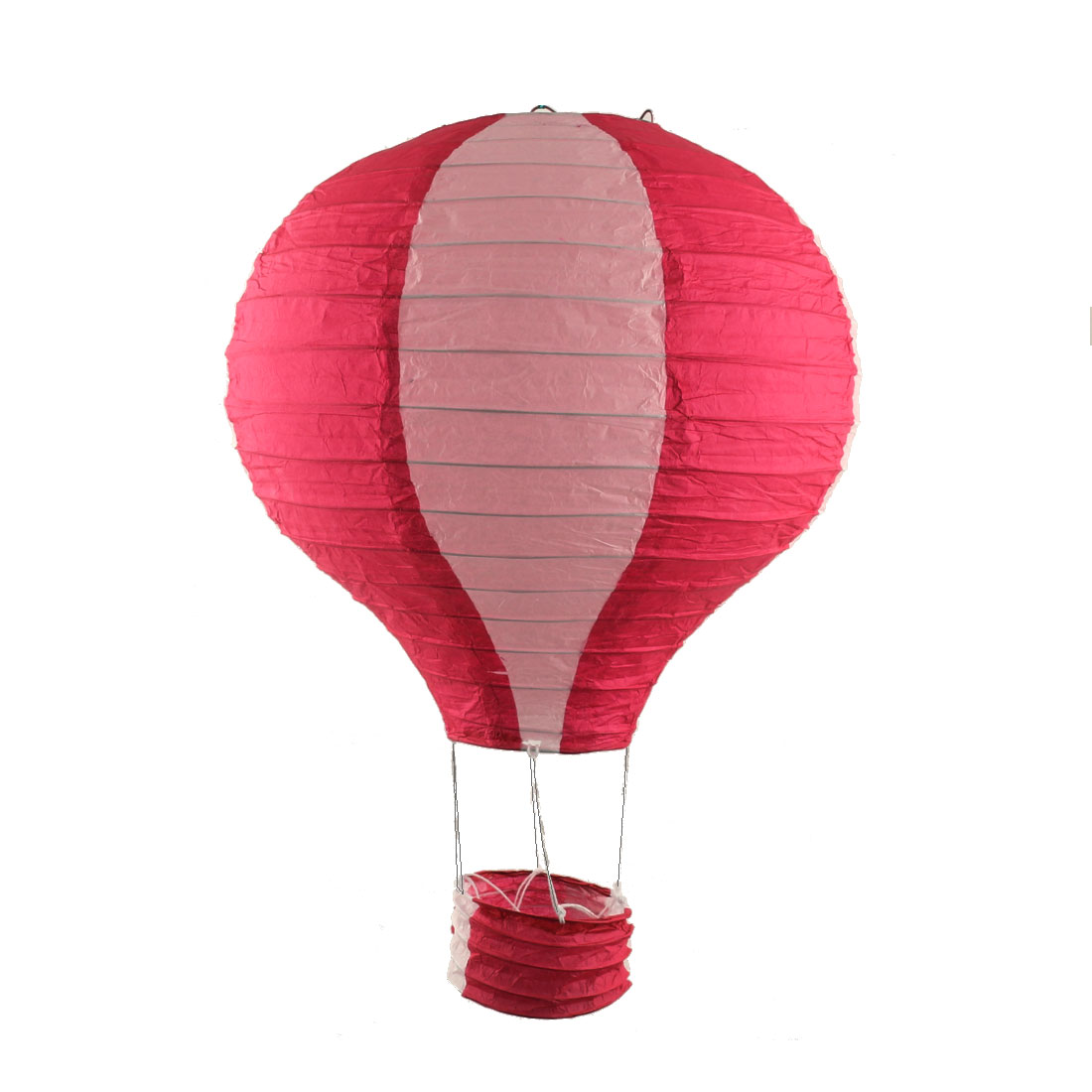 Engagement Festival Party Paper DIY Handmade Lightless Hanging Hot Air Balloon Lantern Red White