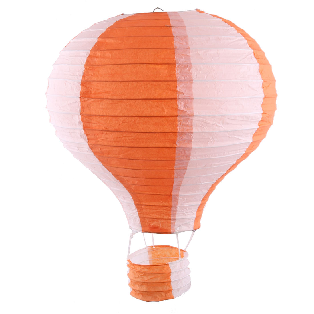 Engagement Festival Party Paper DIY Handmade Lightless Hanging Hot Air Balloon Lantern Orange White
