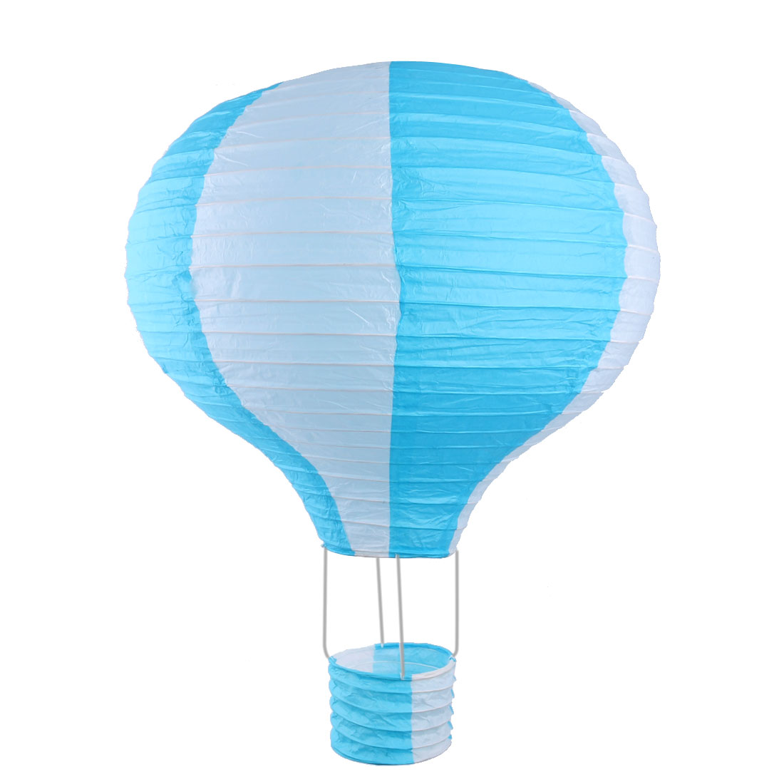 Household Party Paper Lightless Hanging DIY Decor Hot Air Balloon Lantern Blue White 16 Inch Dia