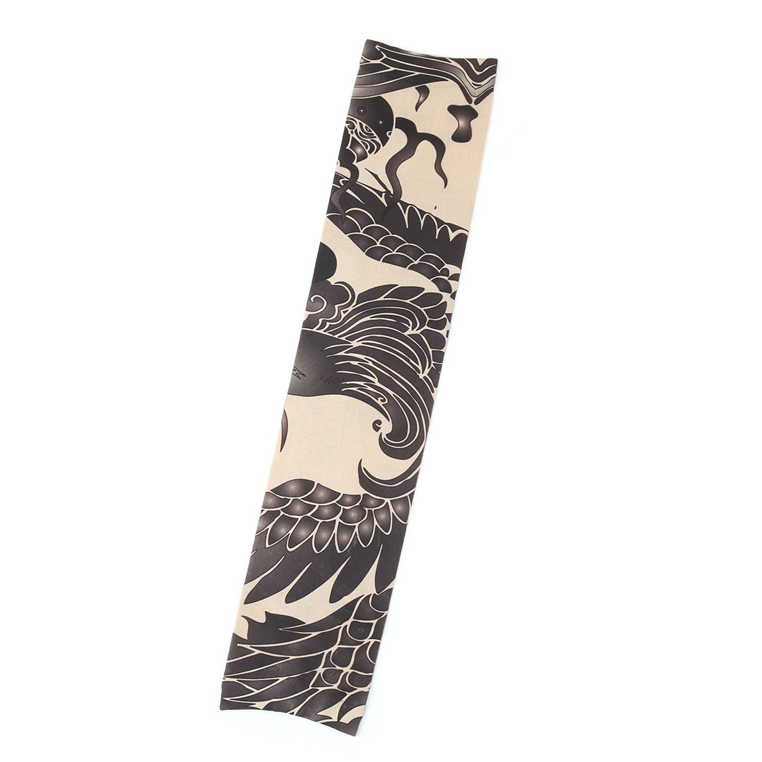 Outdoor Nylon Bird Pattern Riding Cycling Running Stretchy Arm Cover Protector Sleeve