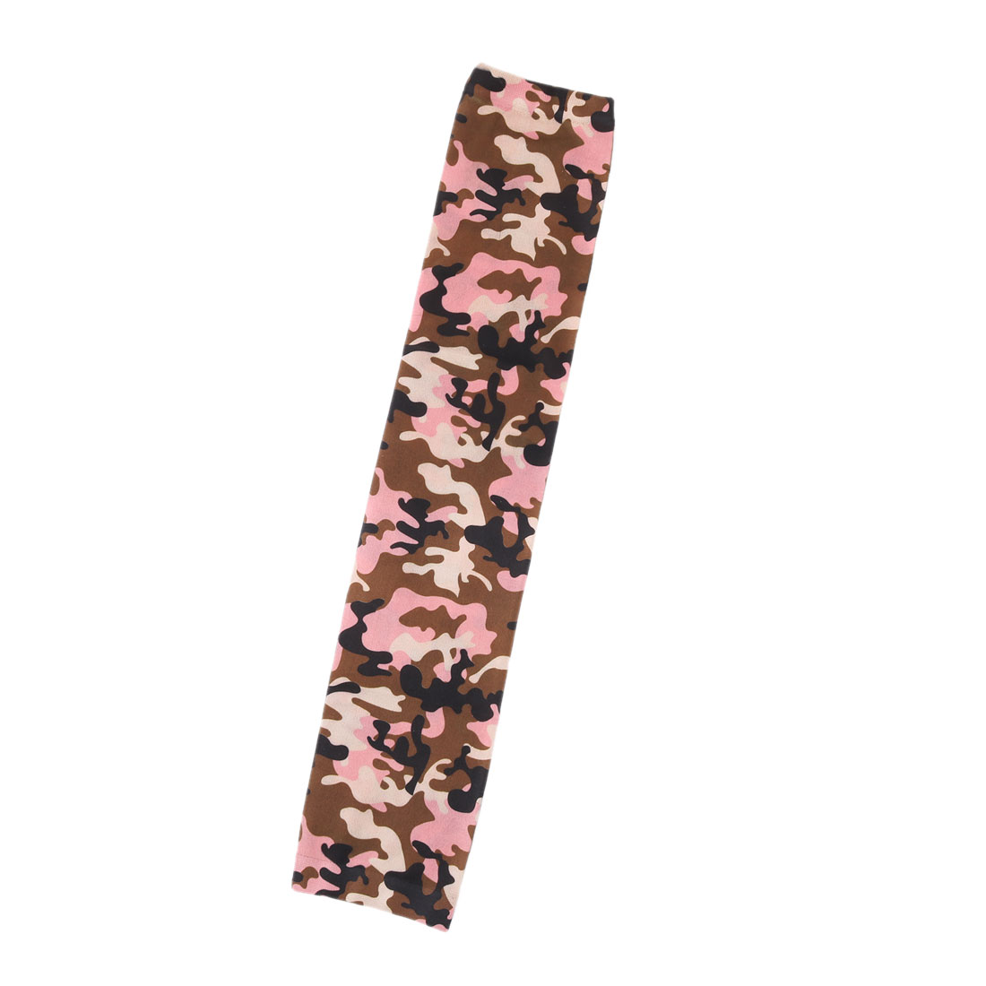 Home Garden Camouflage Print Cleaning Arm Protector Sun Protection Sleeve Cover Pink
