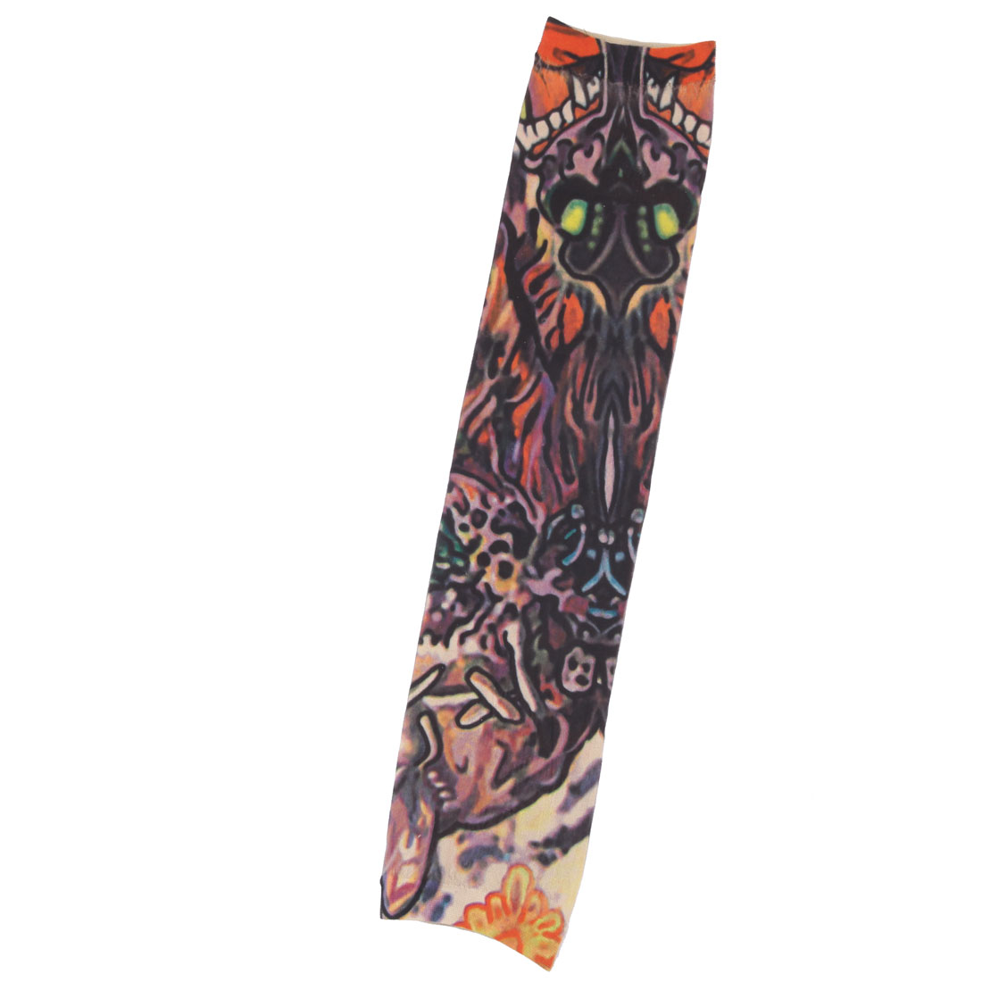 Outdoor Nylon Dragon Print Cleaning Exercising Arm Cover Sun Protection Sleeve Oversleeve Multicolor