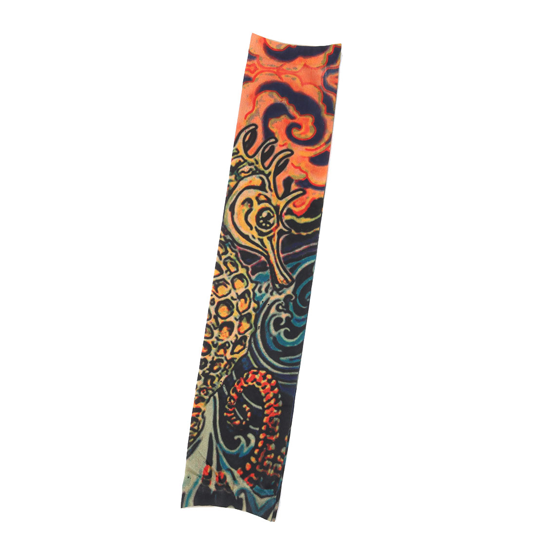Outdoor Nylon Scales Print Stretchy Hiking Cleaning Arm Cover Sun Protection Sleeve