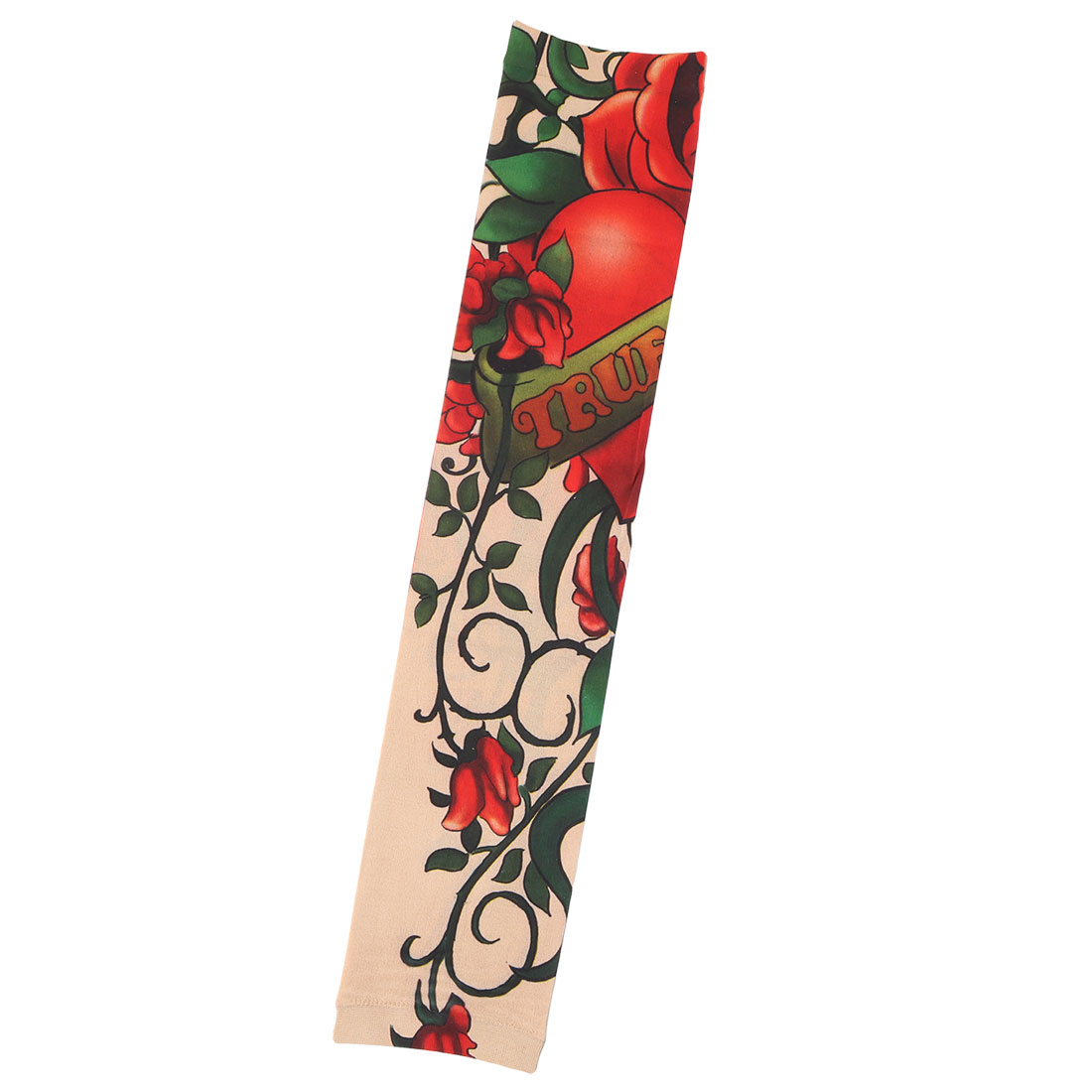 Outdoor Flower Pattern Hiking Running Stretchy Arm Protector Sun Protection Sleeve