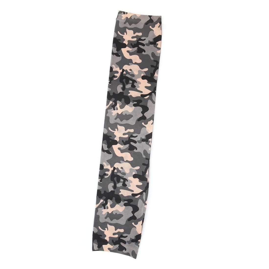 Home Garden Camouflage Print Cleaning Arm Protector Sun Protection Sleeve Cover Gray