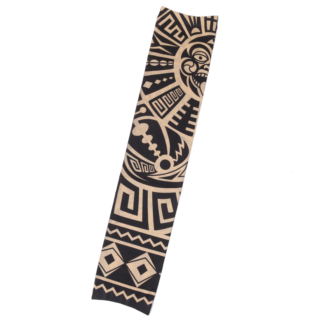 Nylon Geometric Print Riding Cycling Running Stretchy Arm Cover Protector Sleeve Oversleeve