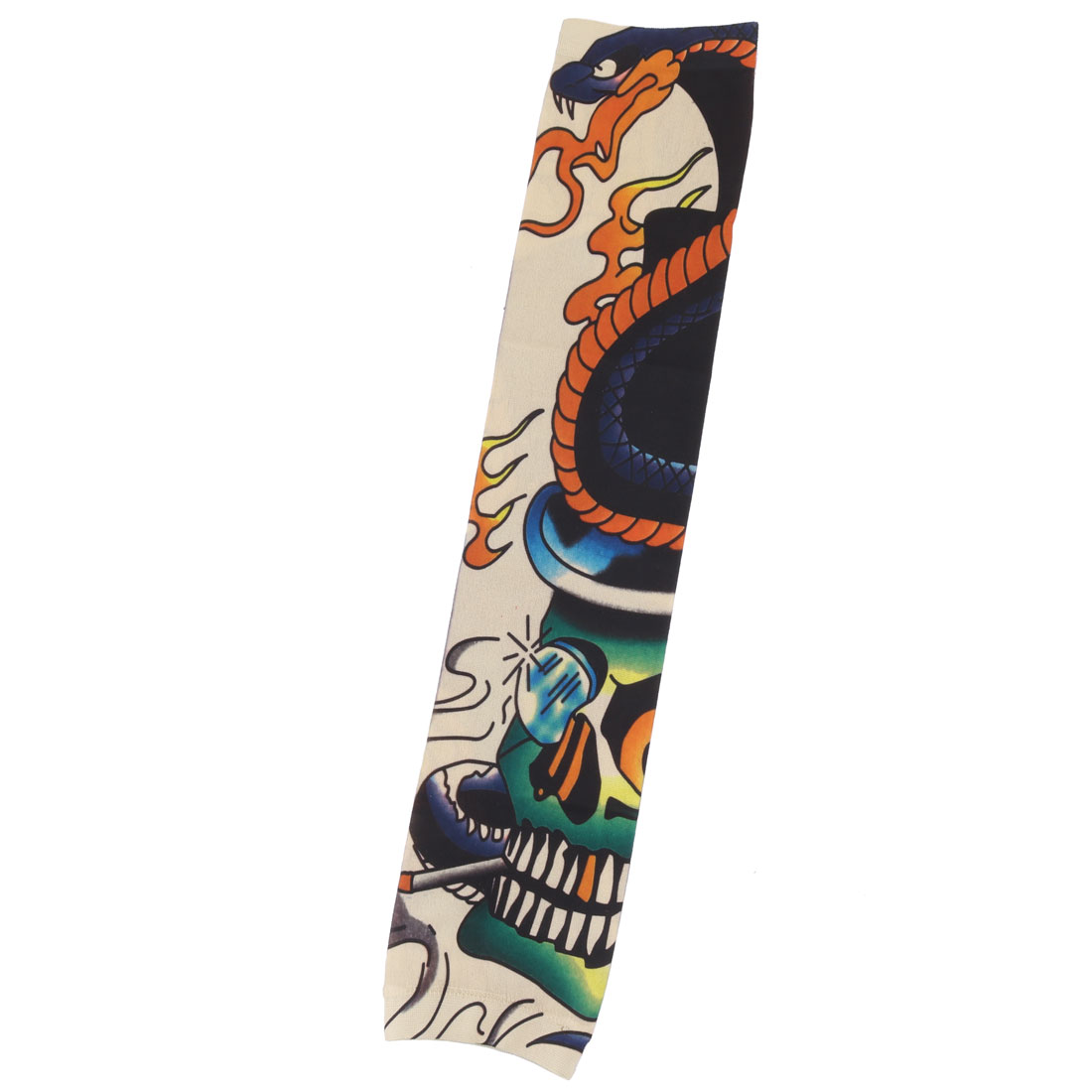 Outdoor Nylon Skull Print Cleaning Exercising Arm Cover Sun Protection Sleeve