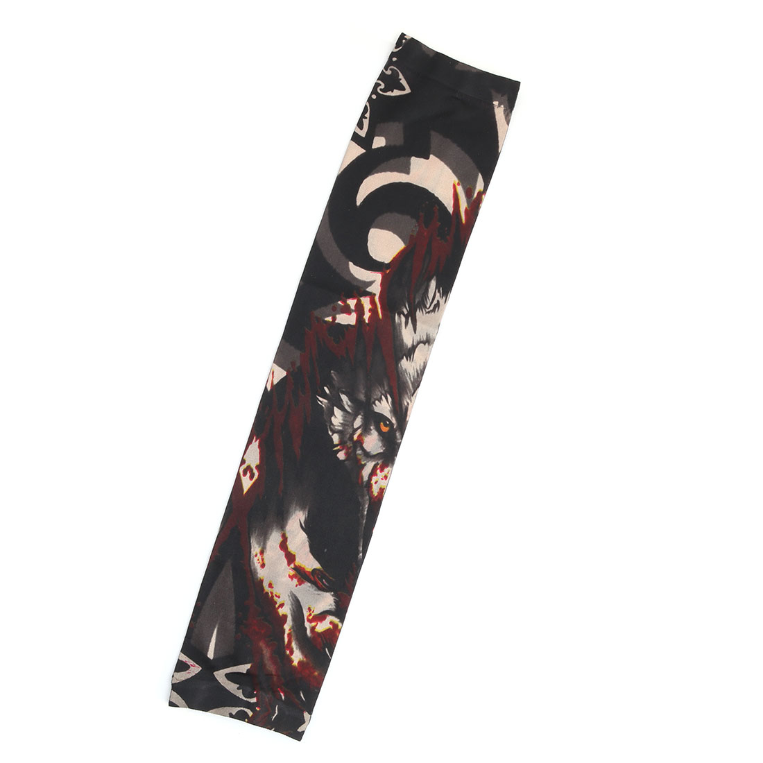 Outdoor Nylon Wolf Pattern Running Exercising Climbing Elastic Arm Protector Sleeve