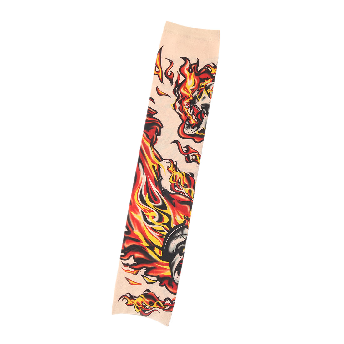Outdoor Nylon Fire Pattern Running Exercising Climbing Elastic Arm Protector Sleeve