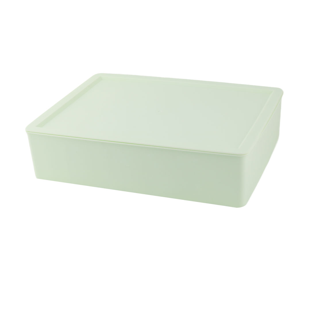 Home Plastic Rectangle 15 Compartments Underwear Socks Storage Box Case Pale Green