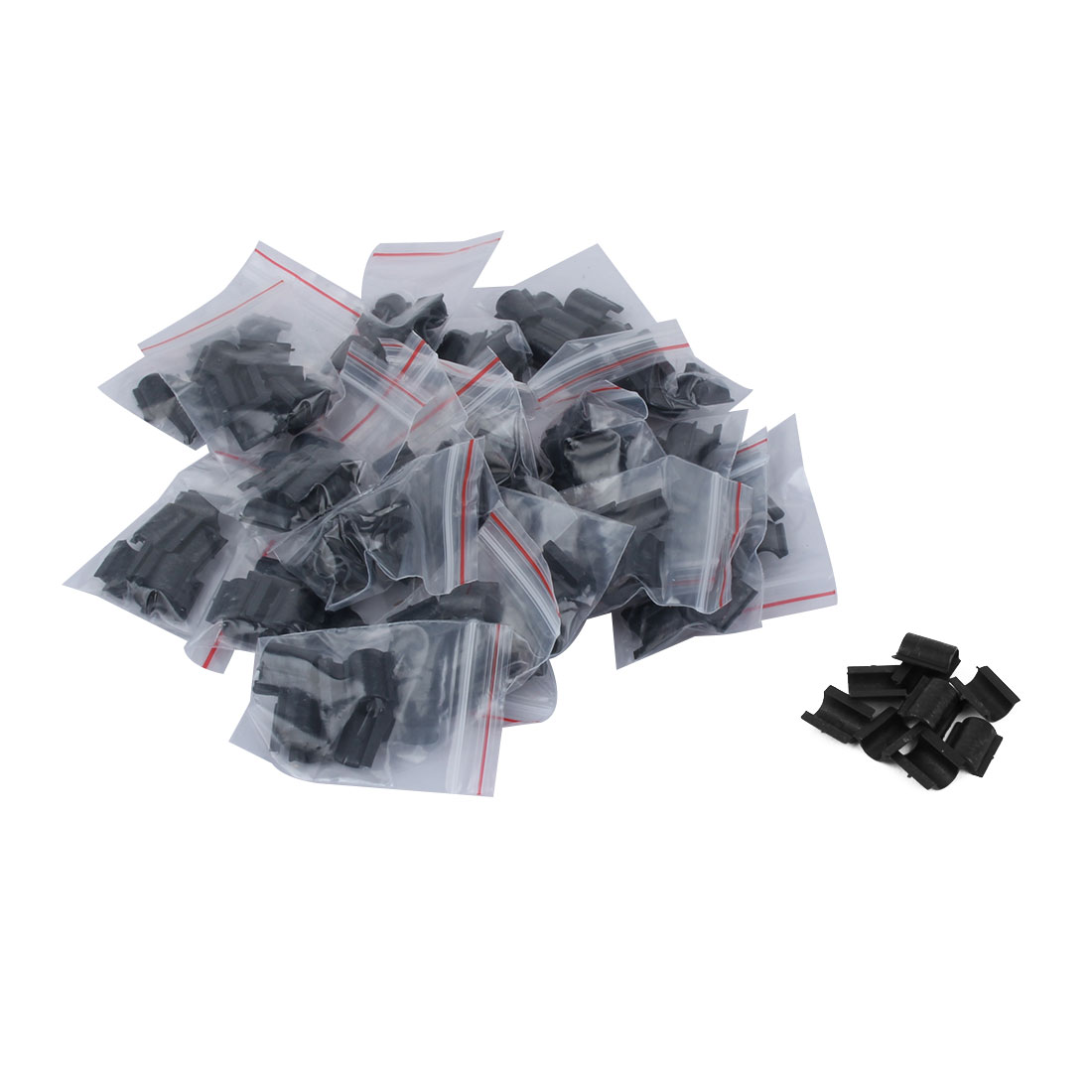 DIY Accessory Plastic Headdress Hair Circle Rope Band Buckle Black 200pcs