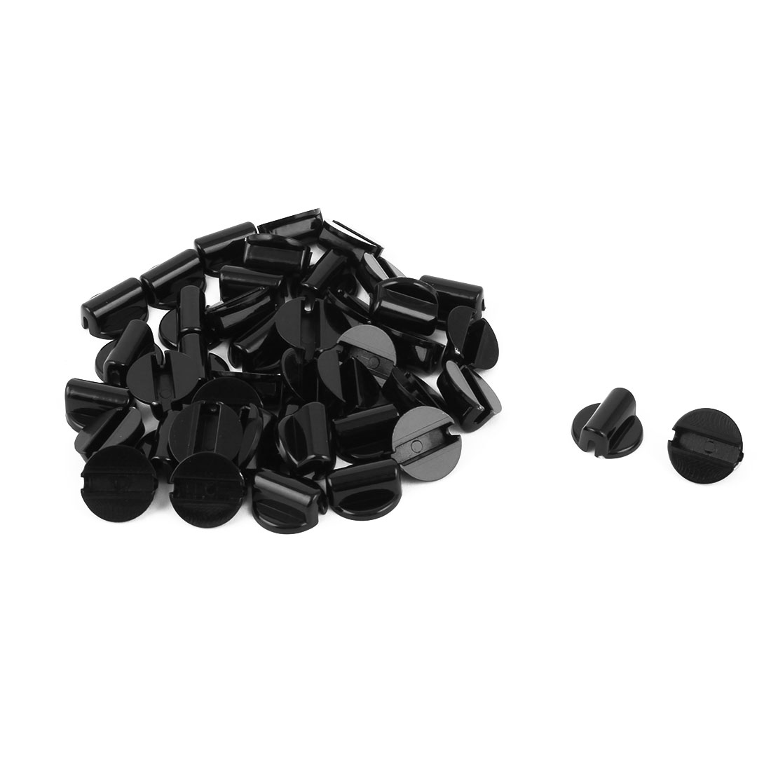 Woman Plastic DIY Ponytail Holder Hairstyle Hair Rope Band Buckle Black 40pcs
