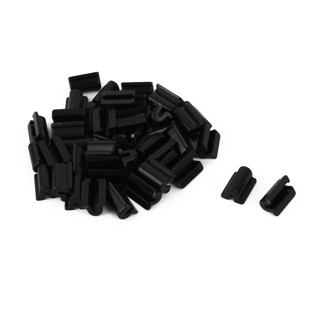 Hairband Decoration Plastic DIY Headband Hair Circle Rope Band Buckle Black 40pcs