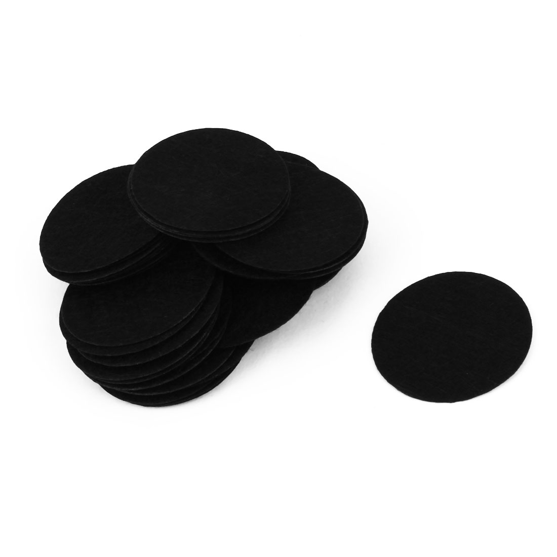 DIY Craft Accessories Round Shaped Hairband Circle Pad Black 40mm Dia 40pcs