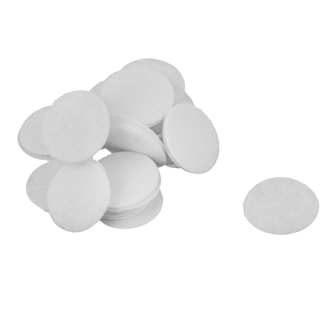 DIY Handcraft Accessories Round Circle Pad Patches White 25mm Dia 50pcs
