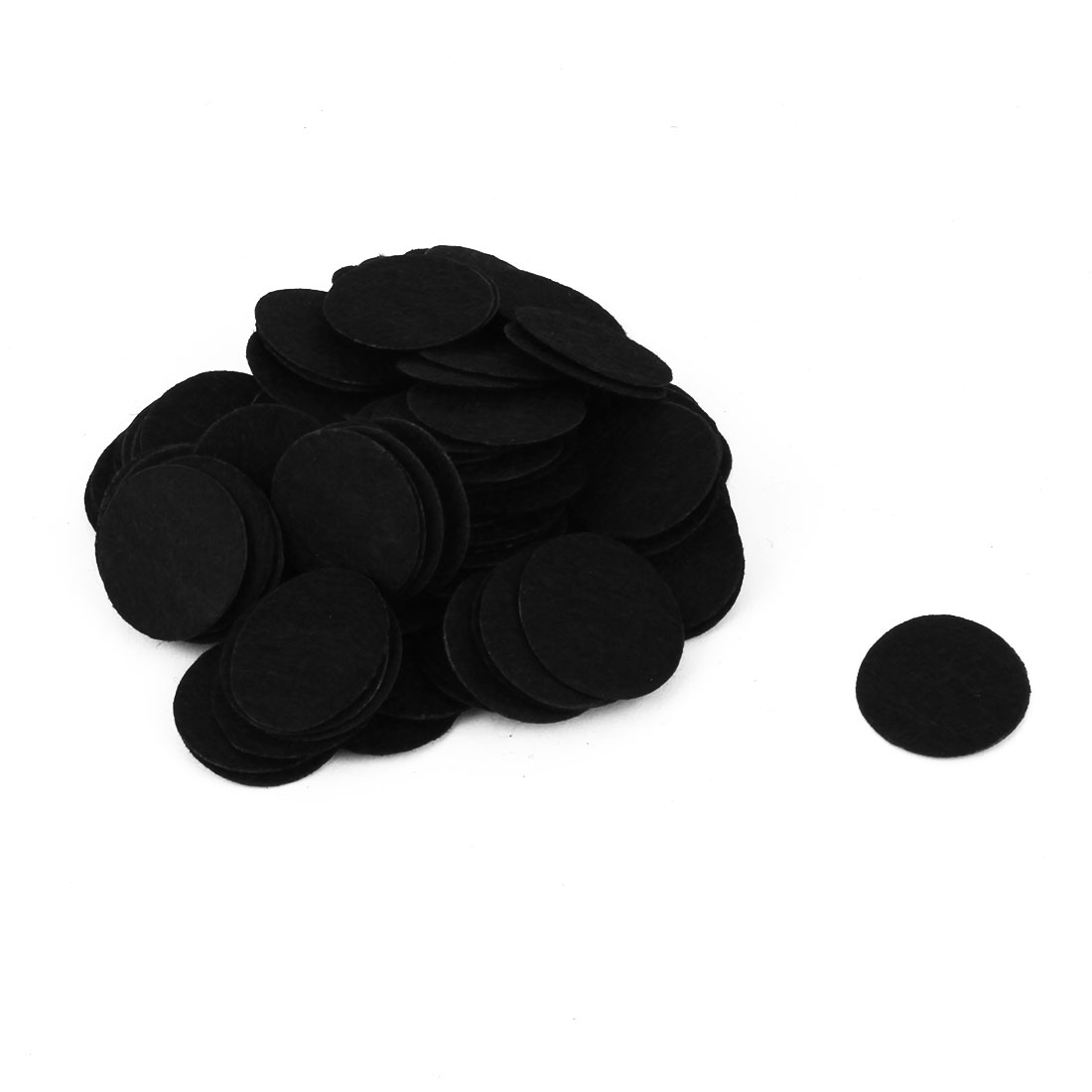 DIY Handcraft Accessories Round Circle Pad Patches Black 25mm Dia 100pcs