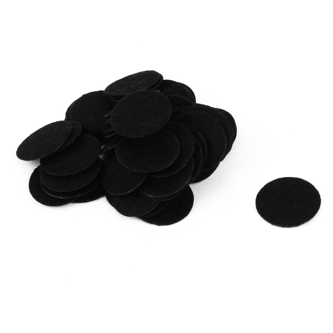 DIY Headwear Round Shaped Hair Band Accessories Circle Pad Black 20mm Dia 50pcs