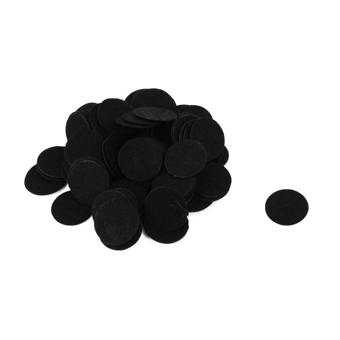 DIY Craft Accessories Hairband Hair Clip Circle Pad Black 20mm Diameter 100pcs