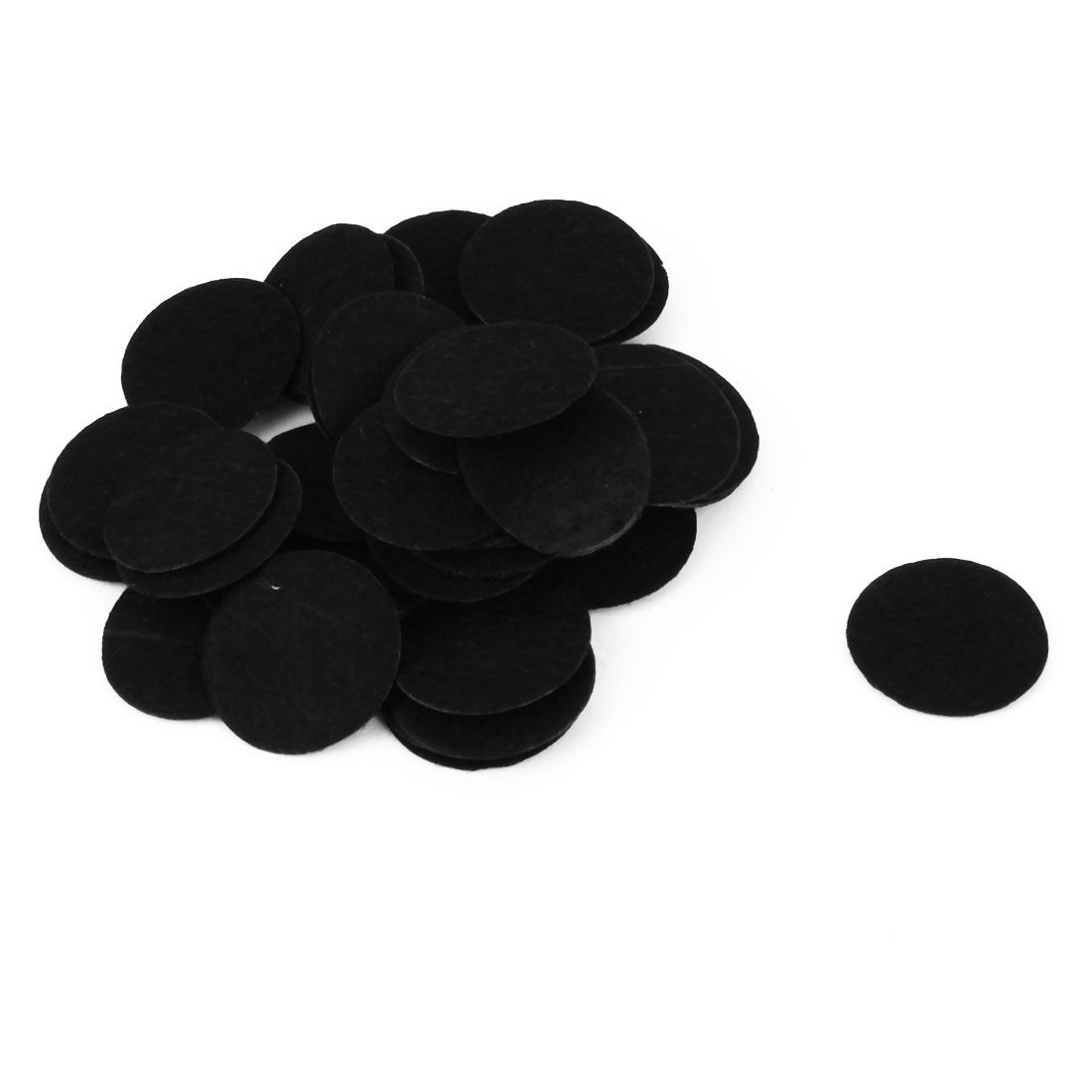 Hair Flower Bottom DIY Craft Round Shaped Circle Pad Black 25mm Dia 50pcs