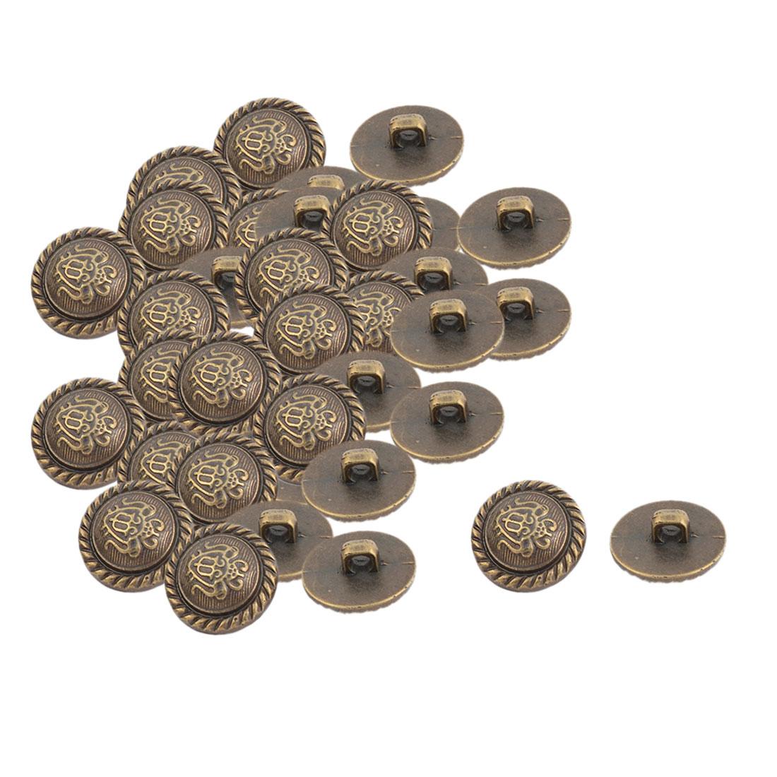 Home Plastic Insect Pattern DIY Decor Clothes Dress Buttons Bronze Tone 40 Pcs
