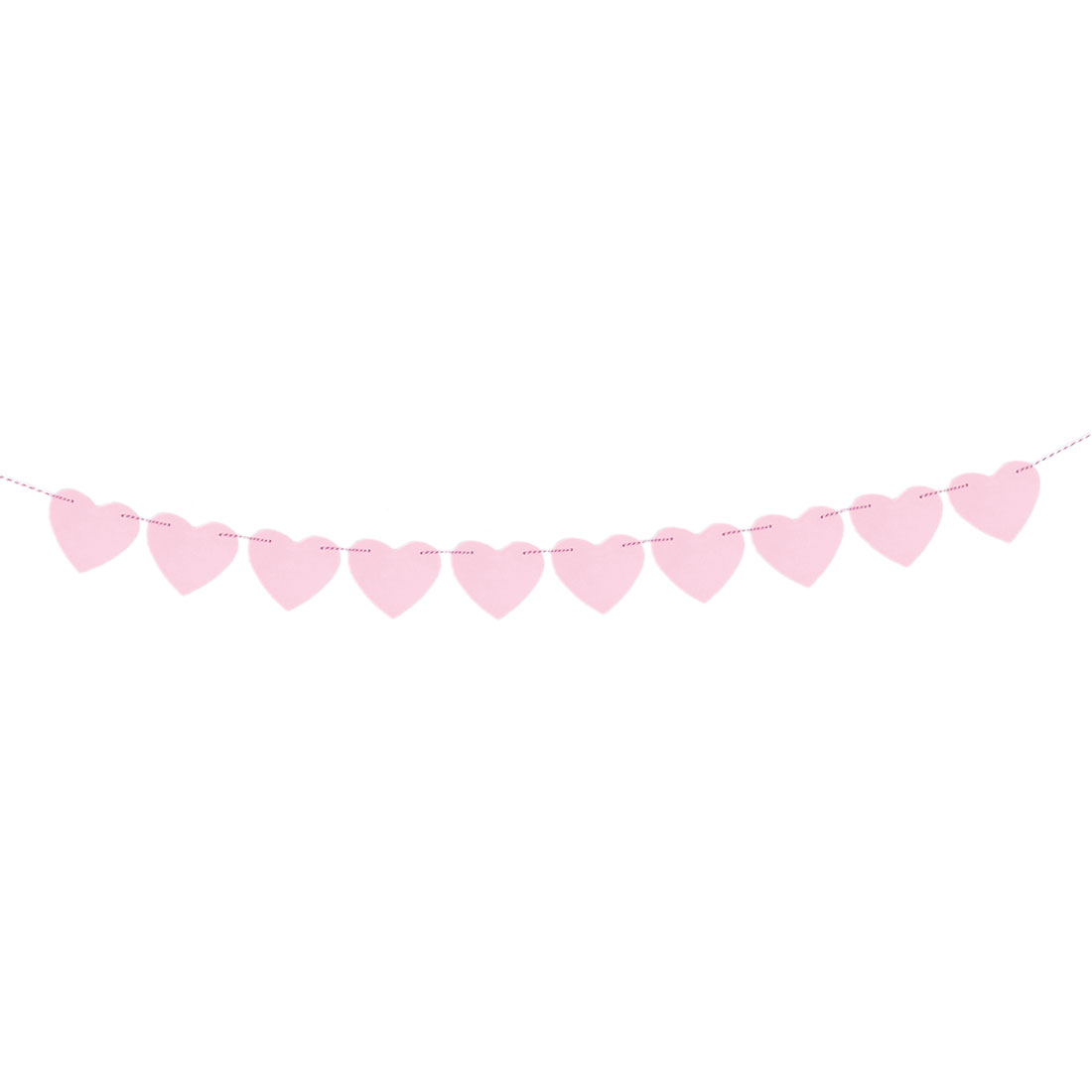 Paper Heart Shaped Party Decoration Photo Prop Bunting Banner Pink 3 Meter Length