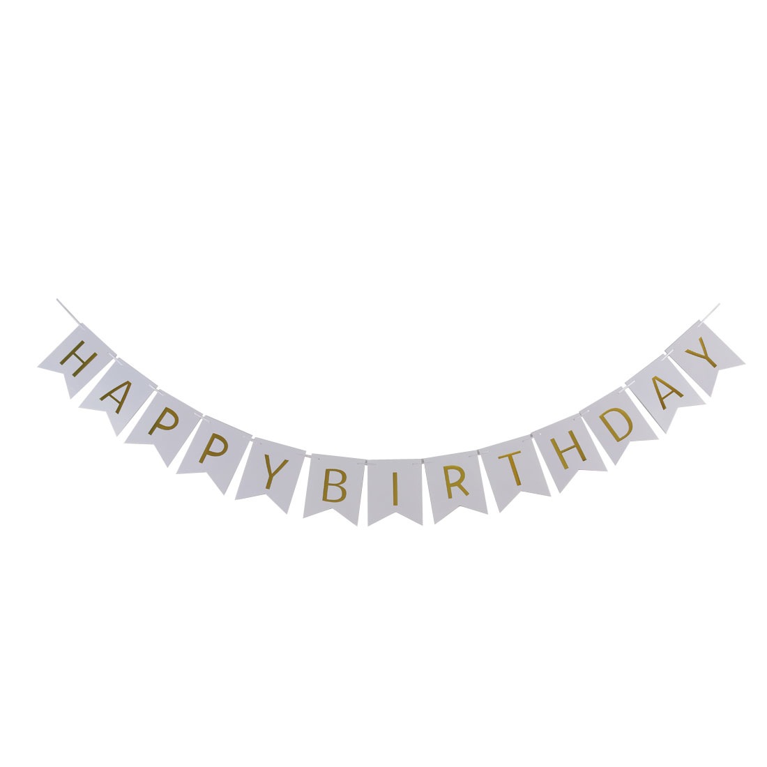 Paper HAPPY BIRTHDAY Letter Print DIY Party Decoration Photo Prop Banner White
