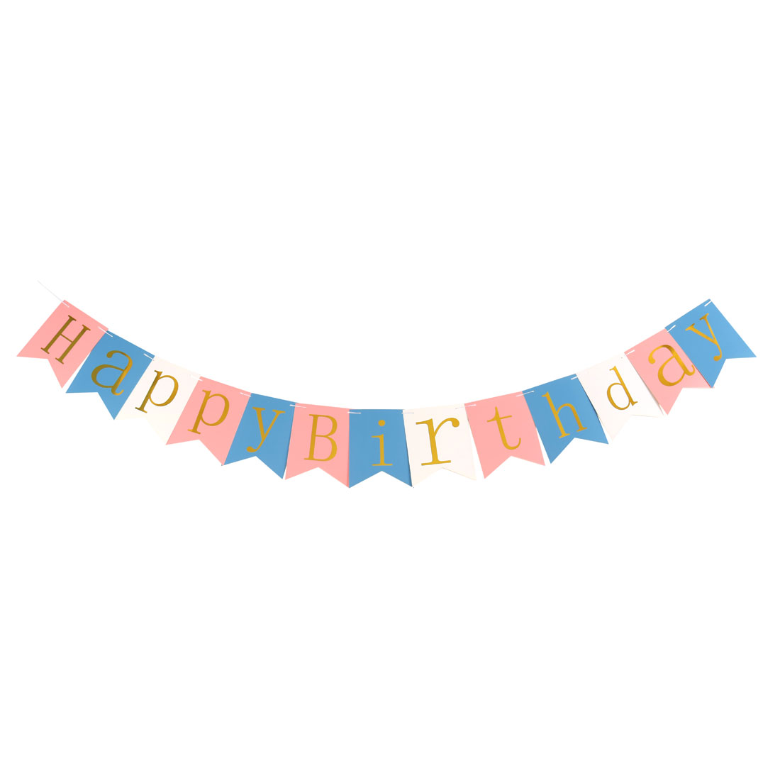 Paper HAPPY BIRTHDAY Letter Pattern Card DIY Party Photo Prop Banner Multicolor