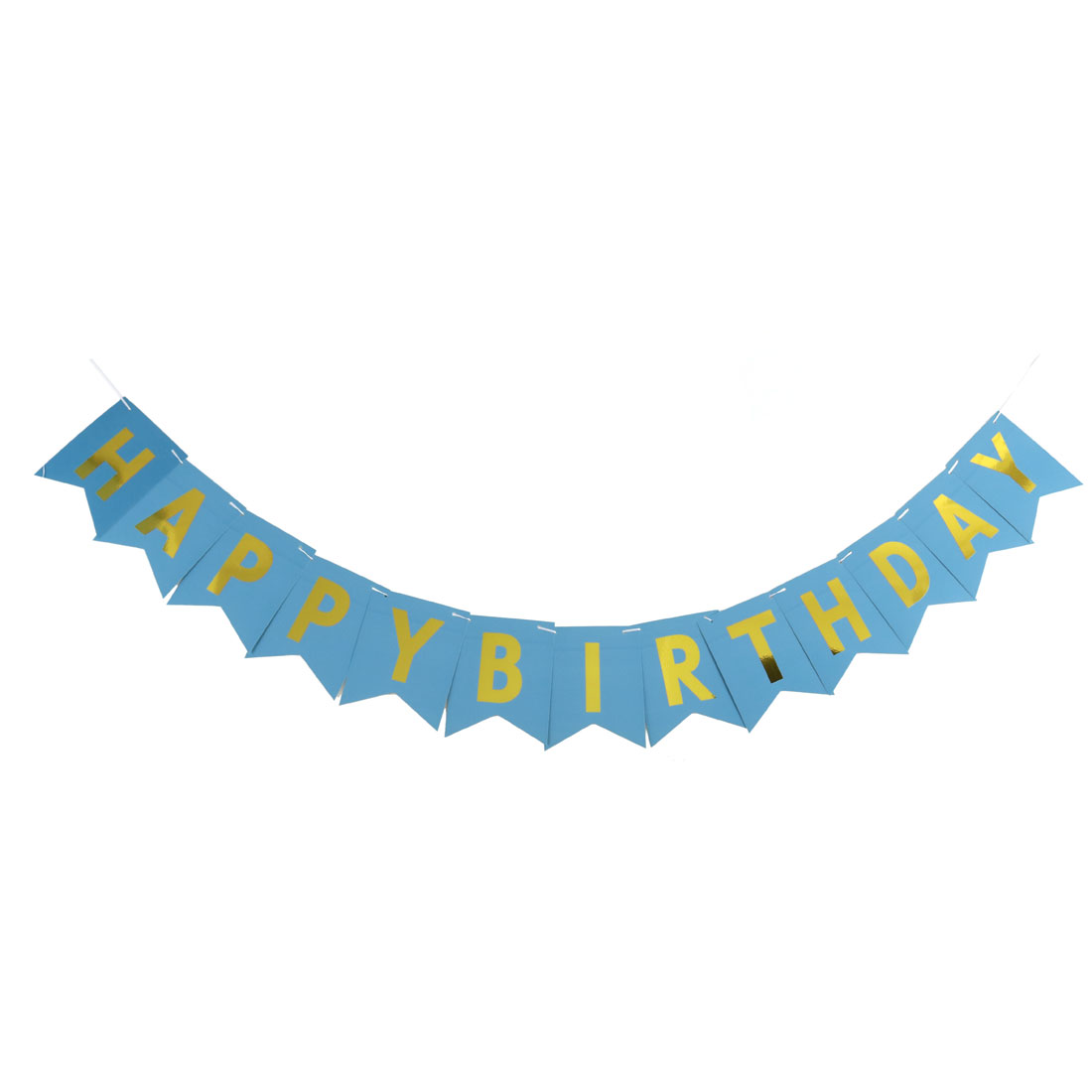 Paper HAPPY BIRTHDAY Letter Print DIY Party Hanger Decor Photo Prop Banner Blue