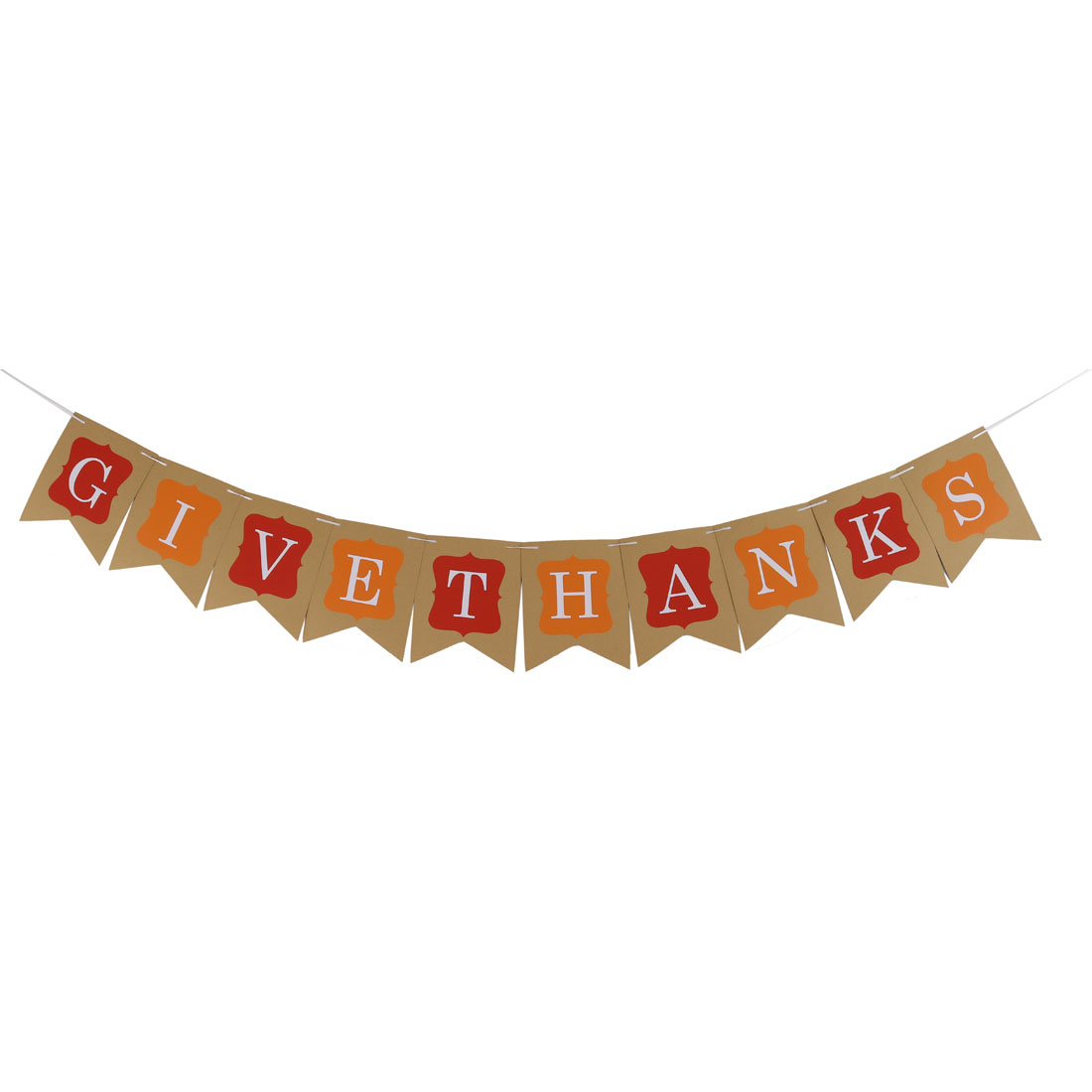 Festival Paper GIVE THANKS Letter Pattern DIY Party Wall Decor Photo Prop Banner