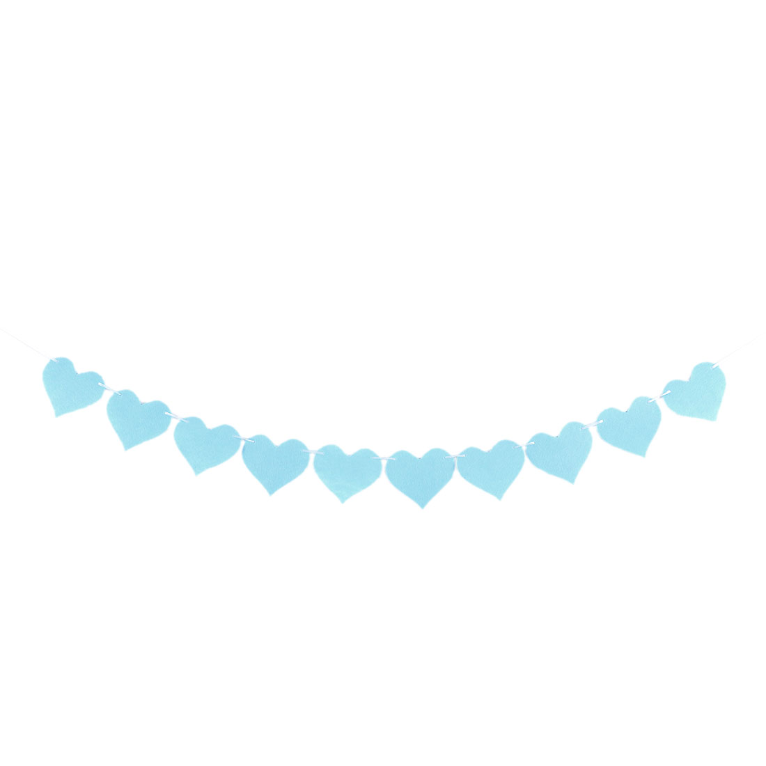 Non-woven Fabric Heart Shaped DIY Party Decoration Photo Prop Bunting Banner