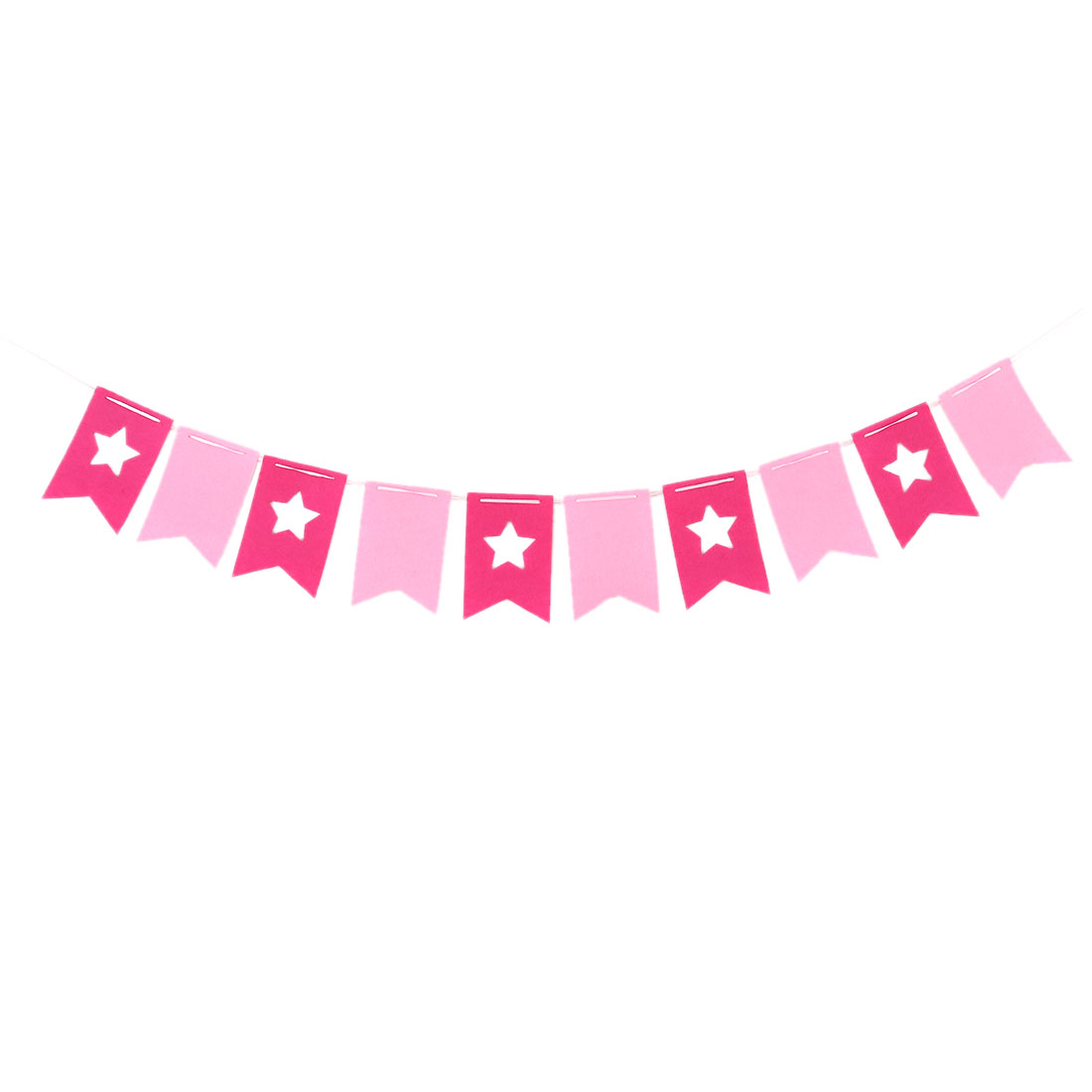 Non-Woven Fabric DIY Wedding Party Decoration Photo Prop Banner Fuchsia Pink