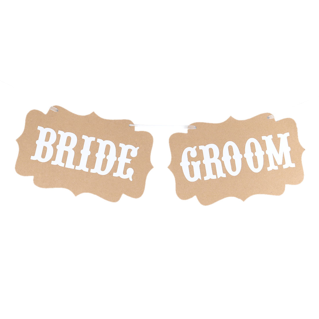 BRIDE GROOM Letter Pattern Chair Back Wall Hanger Party Decor Photo Prop Banner