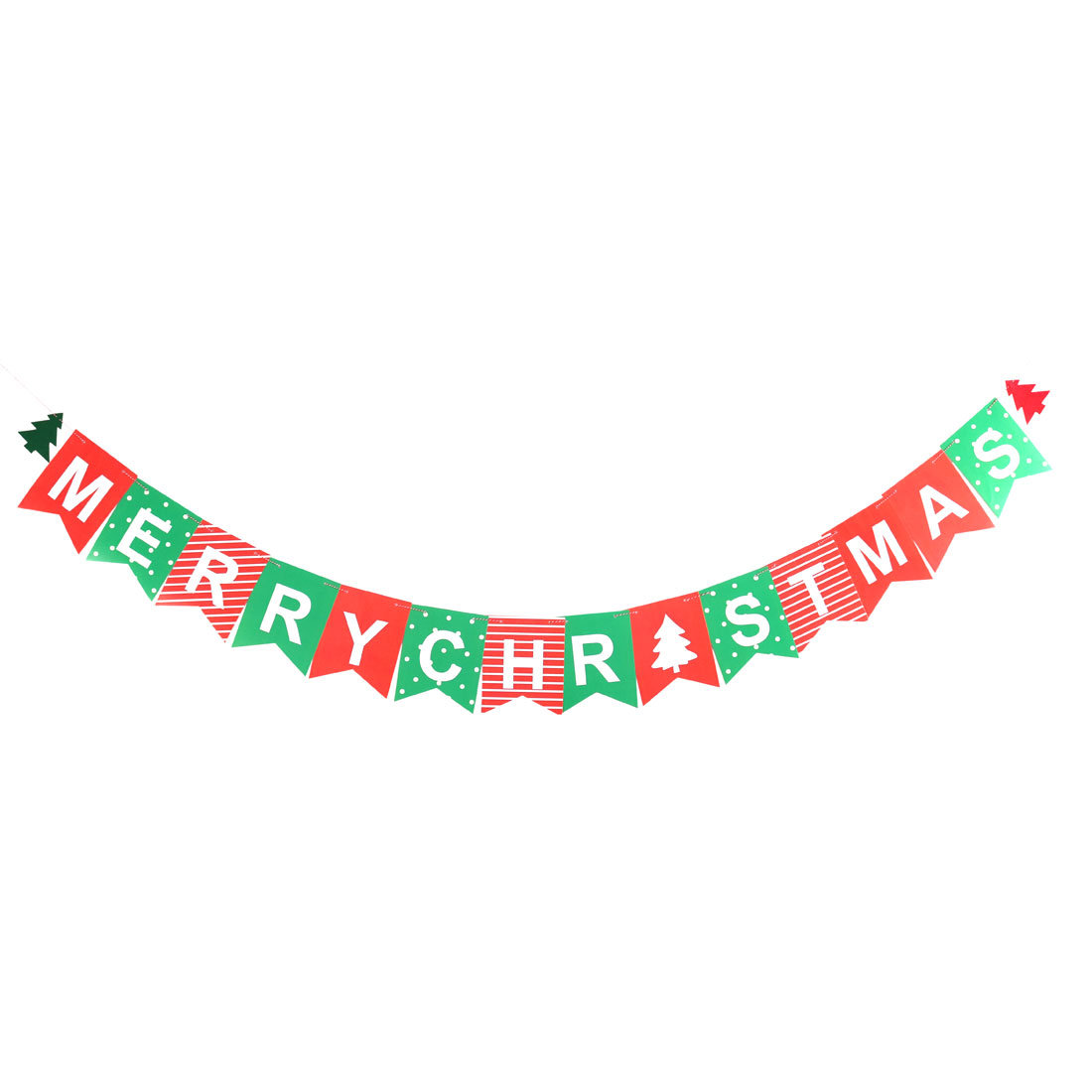 Christmas Day Paper Cards DIY Festival Party Decoration Photo Prop Banner Bunting