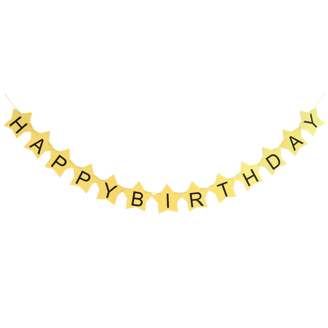 HAPPY BIRTHDAY Letter Star Shaped Card DIY Party Hanger Decor Photo Prop Banner