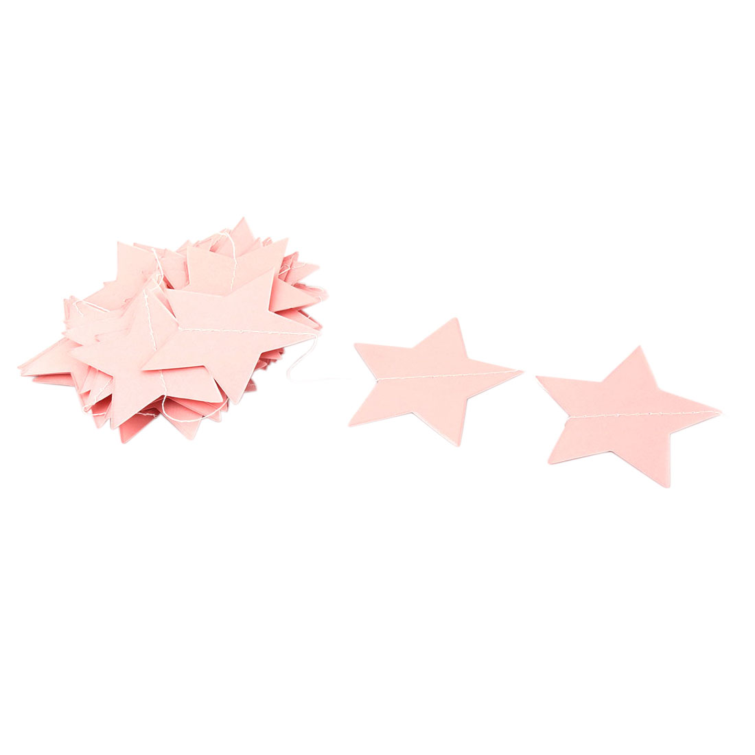 Party Decor Paper Star Shape DIY Hanging Ornament Photo Prop Bunting Banner Pink