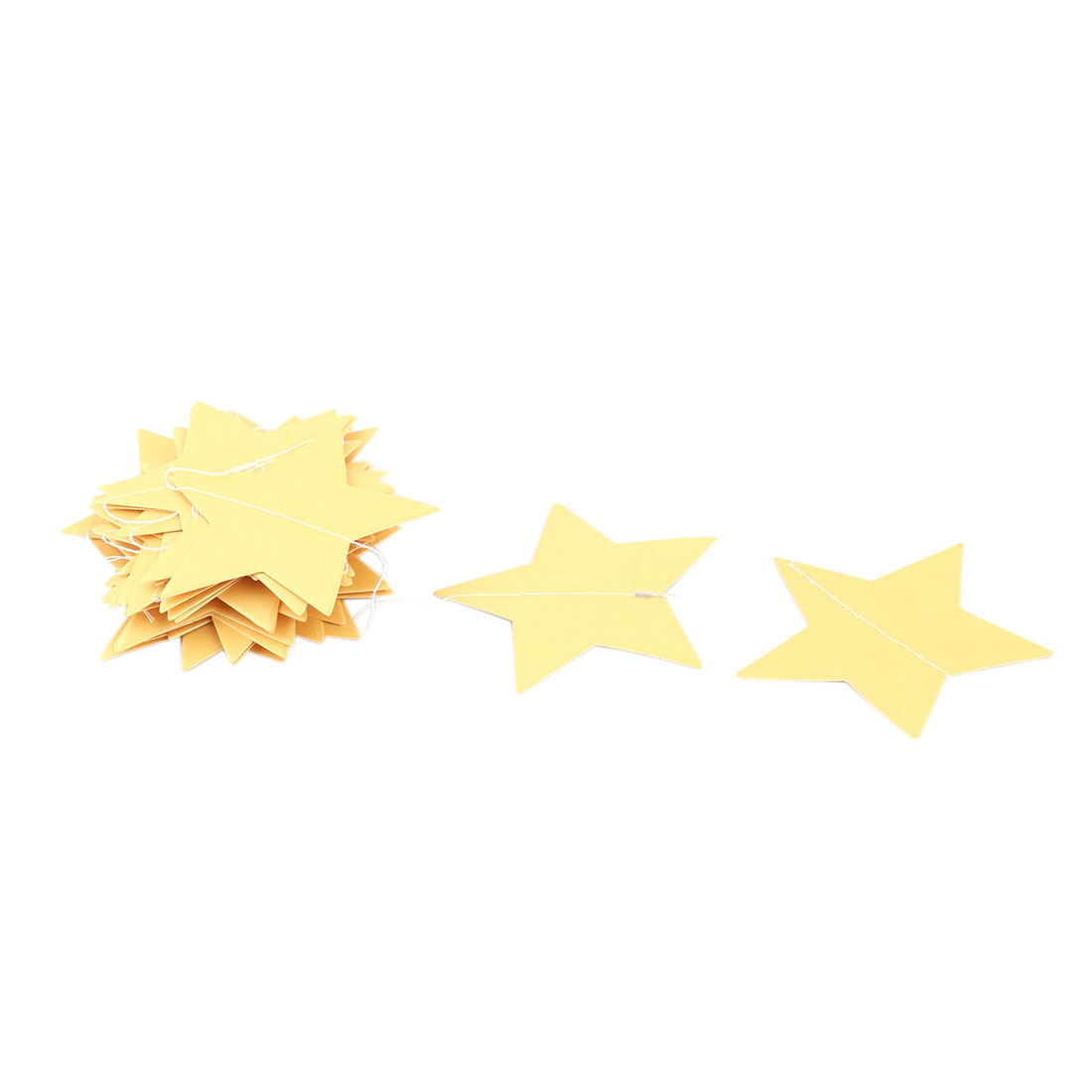 Party Decor Paper Star Shape DIY Hanging Ornament Photo Prop Bunting Banner Gold Tone
