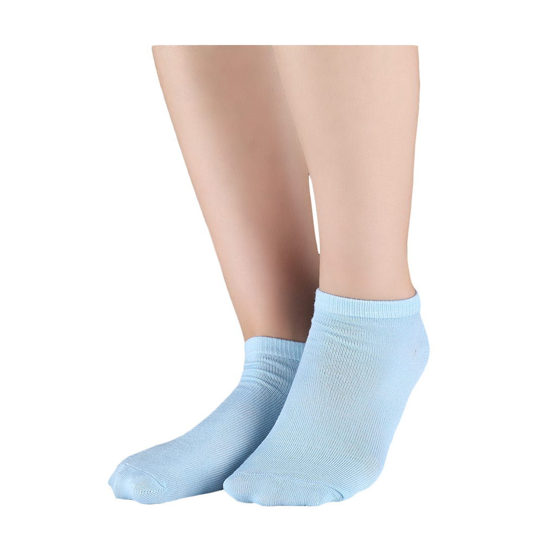 Athletic Low Cut Ankle Socks-Stretch Cuffs Soft 10 Pairs Blue XXS