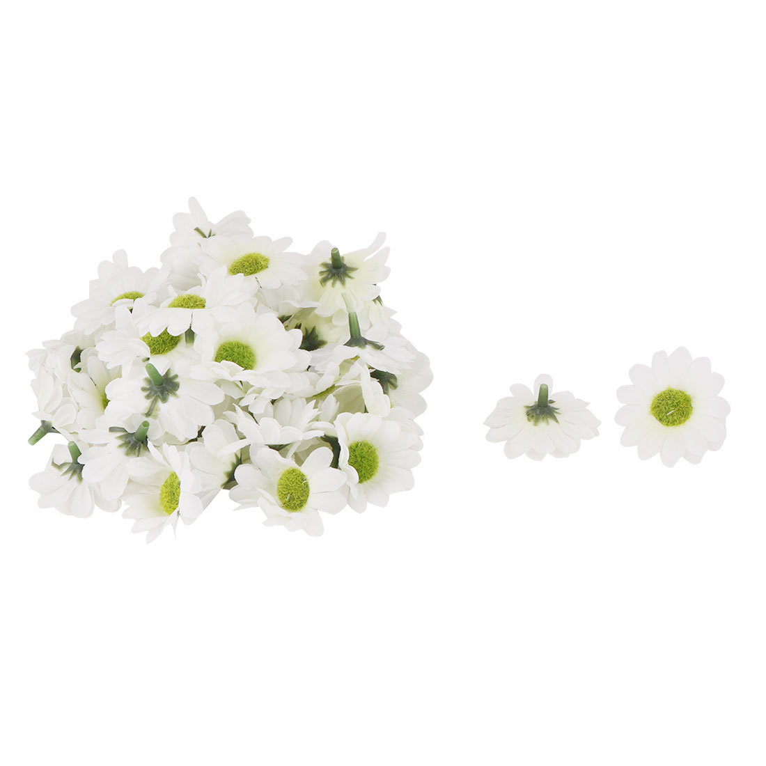 Bride Wedding Fabric Artificial Flower Heads Headband Garland Decor Beige 50pcs