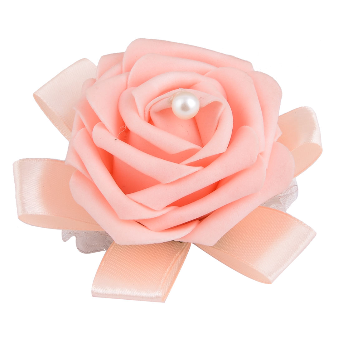 Wedding Foam Rose Design Bridesmaid Hand Decorative Artificial Wrist Flower Light Pink