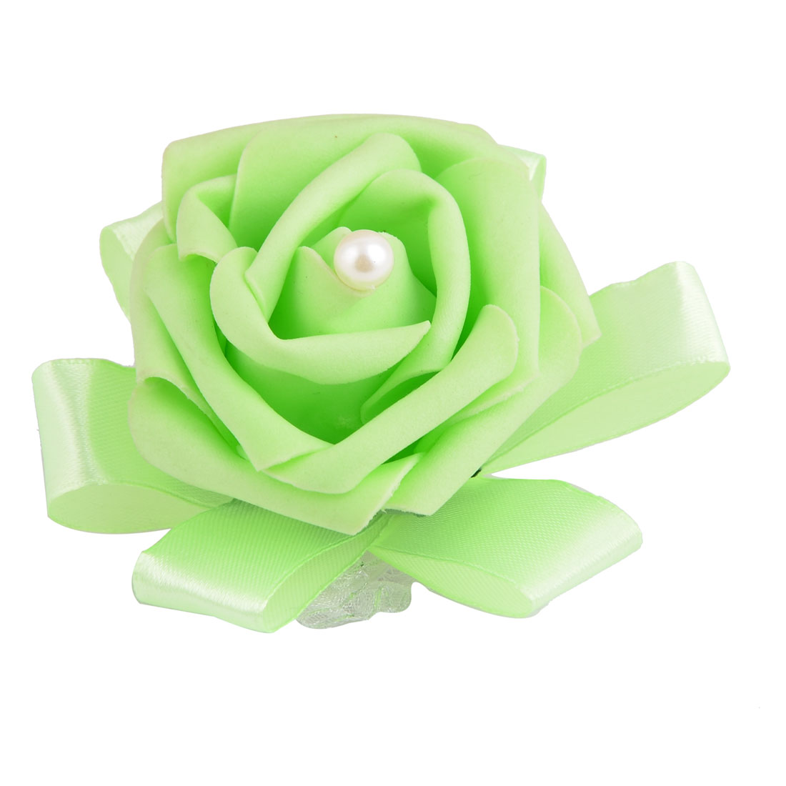 Wedding Foam Rose Design Bridesmaid Hand Decorative Artificial Wrist Flower Light Green