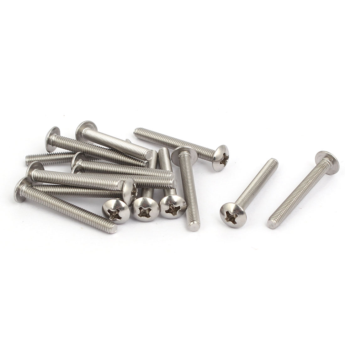 M3 x 25mm 316 Stainless Steel Truss Phillips Head Machine Screws 15pcs