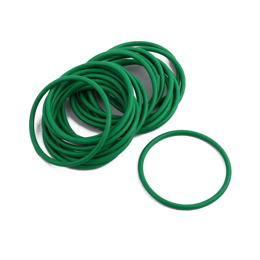 20Pcs Green 34 x 1.9mm Industrial Flexible Rubber O Ring Oil Sealing Grommets