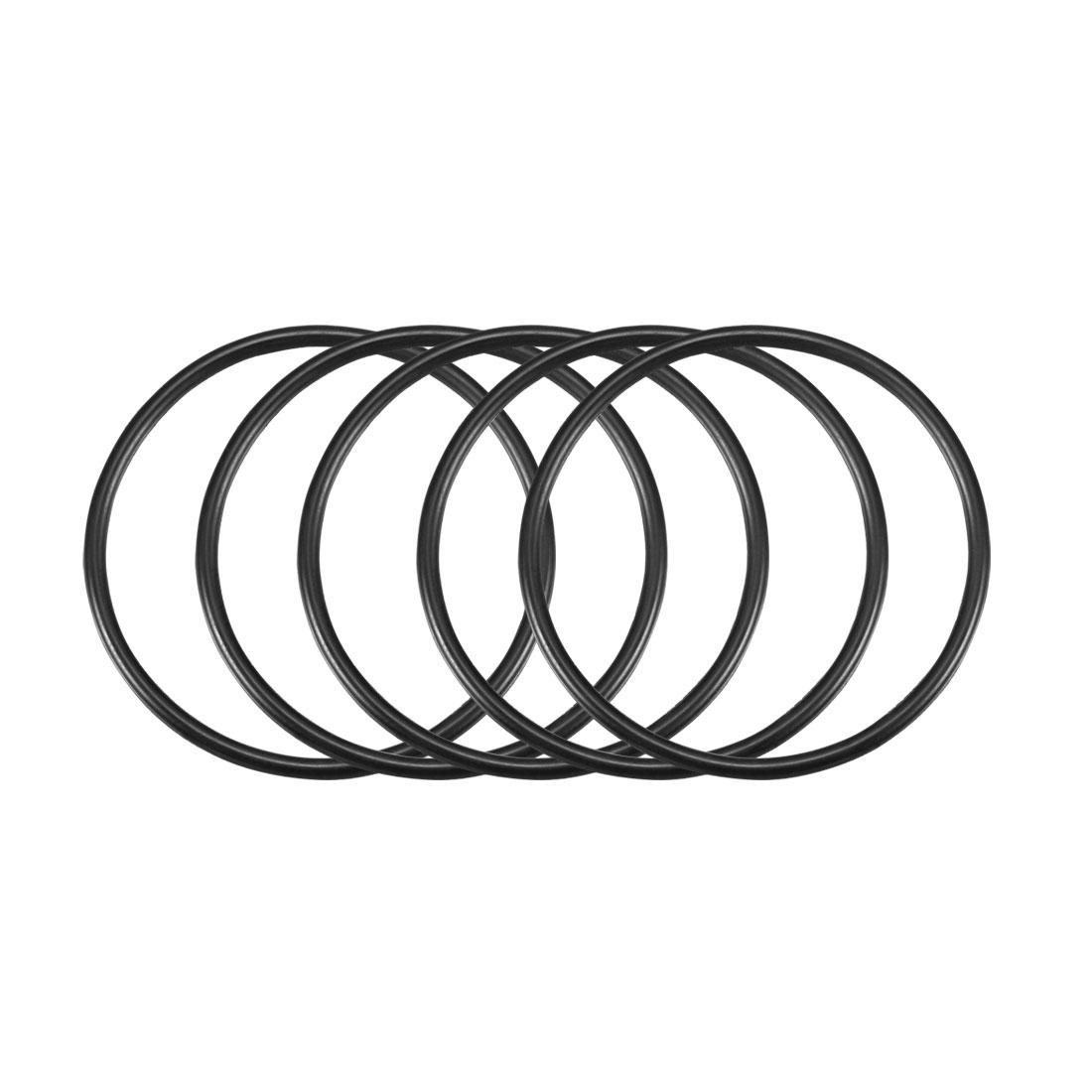 50 Pcs Black 38mm x 2mm NBR Oil Resistant Sealing Ring O-shape Grommets